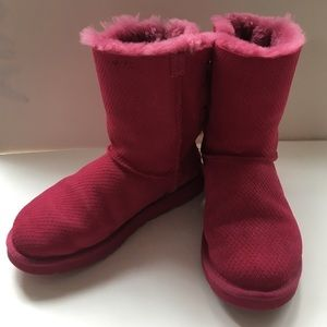 UGG Shoes - UGG Boot - Women's Pink Bailey Bow Size 7